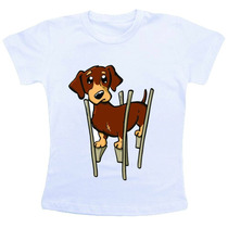 Camiseta Baby Look Feminina - Cachorro Perna De Pau