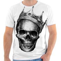 Camisa Caveira Skull Personalizada Sublimacao Masculina