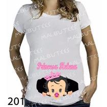 Camiseta Gravida Gestante Bebe Príncipe Princesa Com Chupeta