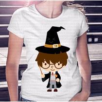 Camiseta Feminina Harry Potter Desenho