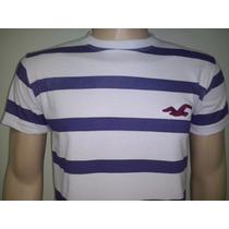 Camisetas Hollister Listradas Masculinas- Promoção Limitada!