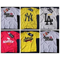Kit C/ 3 Camisetas De Marca Infantil Atacado Hollister/ Nike