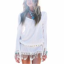 Vestido Saida De Praia Chiffon Bohemia