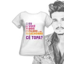 Camiseta Do Luan Santana - Fã Clube - Camisa Feminina Barata