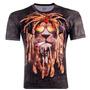 Camiseta 3d Leão Do Reggae