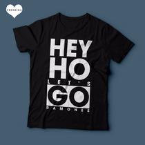 Camiseta Ramones Hey Ho Lets Go Feminina