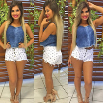 Top Cropped Jeans Sal E Pimenta - Tv070