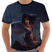 Camiseta Fiora Corvo Noturno League Of Legends Lol