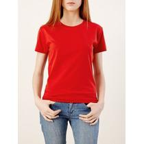Camiseta Baby Look Cores Lisa 100% Algodão-varejo\atacado