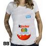 Pregnant T-shirt Bebe Espiando Gestante Gravida Kinder Ovo
