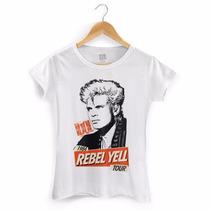 Camiseta Feminina Billy Idol Rebel Yell Tour - Bandup!