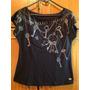 Triton Blusa Preta Com Desenho Chaves Correntes P Camiseta