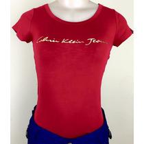 Blusa,camisa, Camiseta Calvin Klein Feminina 100%
