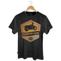 T-shirt Premium Harley Davidson Mescla Escura 0252