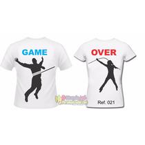 Kit C/2 Camisetas Gamer Over Masculino Feminino Engraçadas