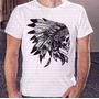 Camisa Estampa Masculina Caveira Indio Apache