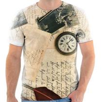 Camiseta - Camisa Estampa Vintage Pena 2016 Moda Masculina