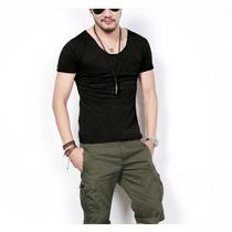 Camiseta Masculina Decotada Luan Santana - Pronta Entrega