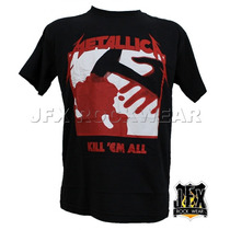 Camisa De Manga Curta Rock Banda Metallica Kill