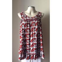 Shoulder Blusa Bata Floral Preguinhas Verão Camiseta Fresca!