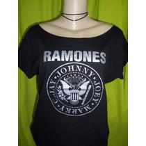 Blusa Ombro Caido Ramones