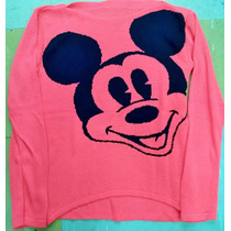 Blusa De Frio Feminina Lã Trico Personagem Mickey
