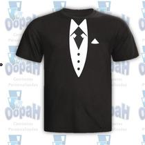 Camiseta Personalizada Estampa Terno Promoção