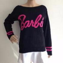 Blusa De Frio Feminina De Lã Trico Barbie Tricot Cardigan