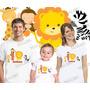 Lebrança De Aniversário Leão Selva Floresta Camiseta 3 Un