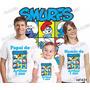 Lembrança De Aniversario Smurfs Camiseta Com 3 Frete Grátis