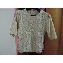 Blusa Feminina Em Crochê - Tam M - Maravilhosa!!!