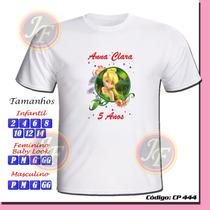 Camiseta Camisa Infantil Personalizada Sininho Tinker Bell