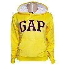 Super Promoção Blusa Moletom De Frio Gap Amarela Feminina