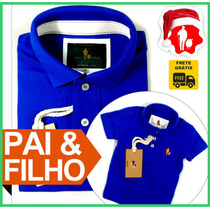 Tal Pai Tal Filho Camiseta Camisa Polo Pai, Filho, Mãe Igual