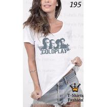 Camiseta T-shirt Codplay Fashion Feminino Blusa Baby Look