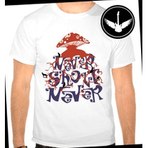 Camiseta Never Shout Never Baby Look Regata Banda Rock Blusa