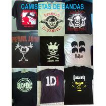 Camisetas Bandas Metallica Acdc Ramones Nirvana Guns N Roses