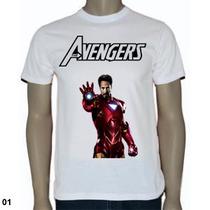 Blusas Animes/desenhos - Avengers Hulk Homem De Ferro