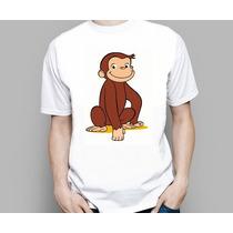 Camiseta Infantil Desenho George O Curioso Discovery Kids