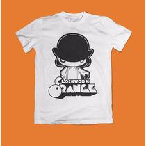 Camiseta Laranja Mecânica Clockwork Orange 100% Algodão