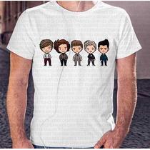 Camisa Estampa Masculina One Direction Miniaturas Desenho