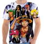 Camiseta Camisa Masculina Otaku Anime Serie - One Piece 04