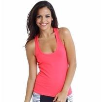 Camiseta Regata Em Malha Costas Nadador Blusinha Feminina