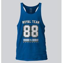 Camiseta Regata Cavada Royal Musculação Academia Fitness