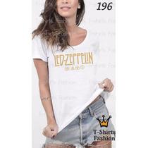Camiseta T-shirt Led Fashion Feminino Blusa Baby Look