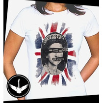Camiseta Sex Pistols Baby Look Regata Banda Rock Queen Blusa
