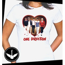 Camiseta One Direction Baby Look Blusa Banda Camisa