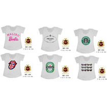 Kit Atacado T Shirts Feminina Com 10 Unid - Pronta Entrega
