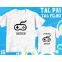Tal Pai Tal Filho Camiseta Gamer Personalizada Kit Com 2