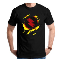 Camiseta The Flash - Dr. Harrison Wells Camisa Reverso